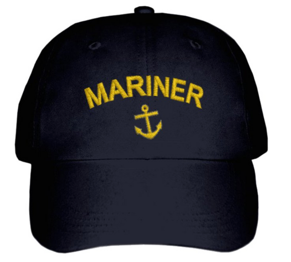 MARINER CAP-Embroidered-Black