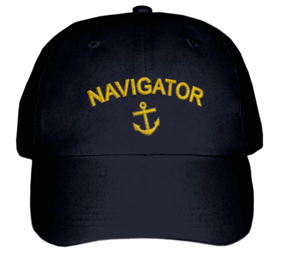 NAVIGATOR CAP-Embroidered-Black