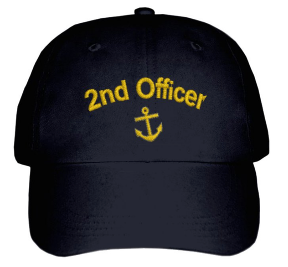 Second Officer CAP-Embroidered-BLACK