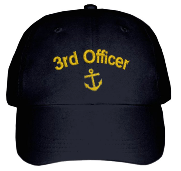 Third Officer CAP-Embroidered-BLACK