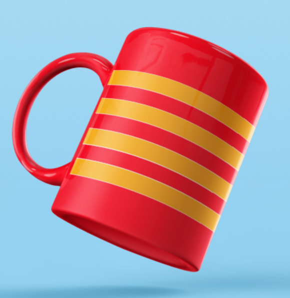 Rank Mug-Captain Mug without dia-RED