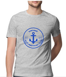 T-shirt-Vintage Nautical-Melange Grey
