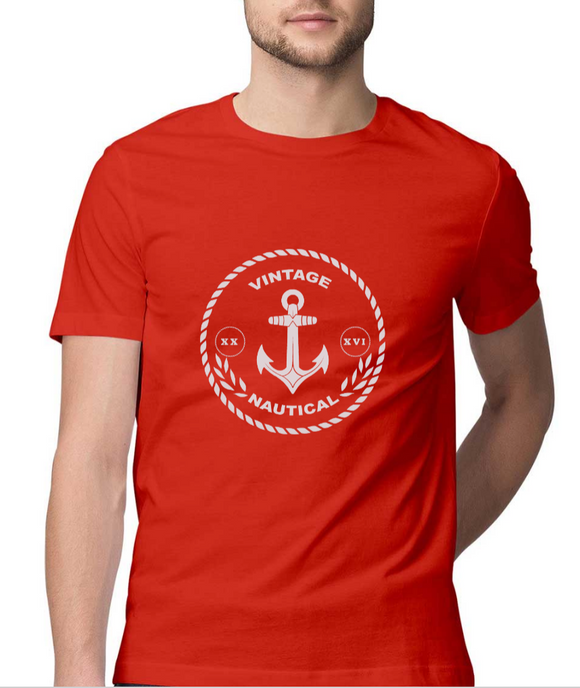 T-shirt-Vintage Nautical-Red