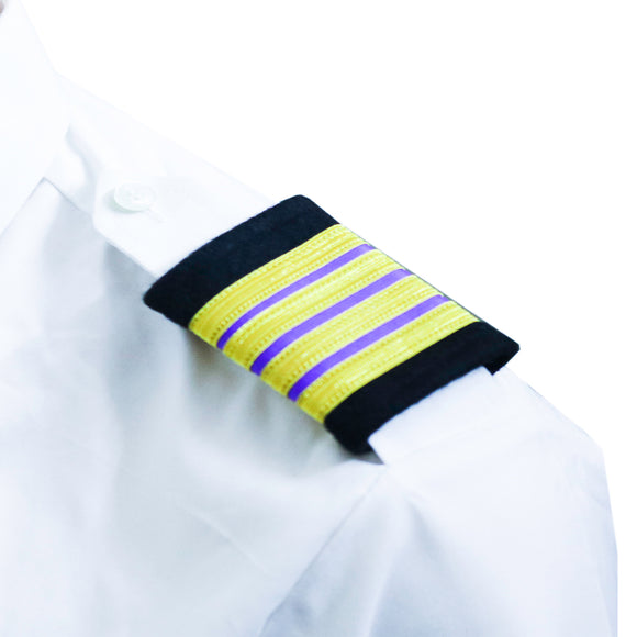 Professional Aviation Epauletes- Senior Engineer -4 stripes-Blazer cloth