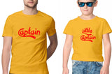 T-shirt Combo-Captain & Little Captain-Yellow