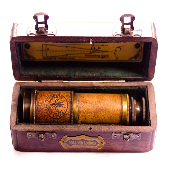 Marine telescope inside wooden box-Marine antique style collectable series