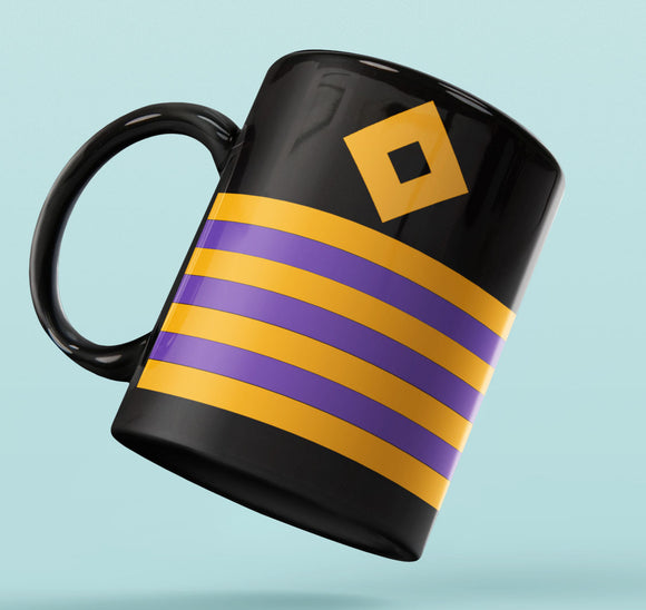 Rank Mug-Full Black-CHIEF ENGINEER