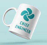 Designer Mug-Chief Engineer with green Propeller