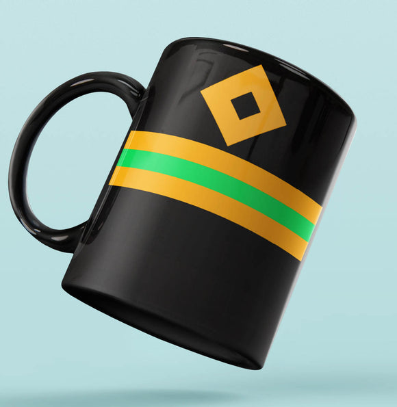 Rank Mug-Full Black-Electrical Officer