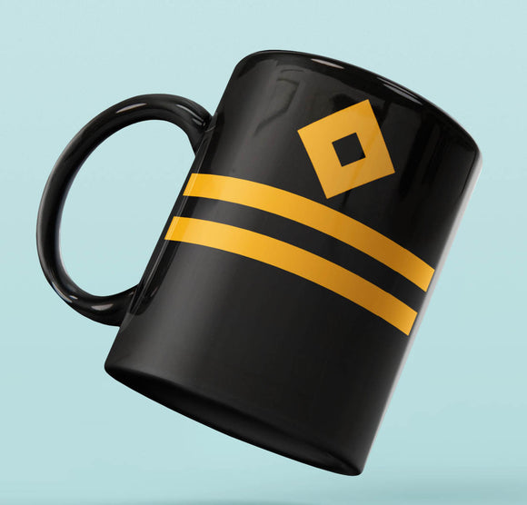 Rank Mug-Full Black-Second Officer