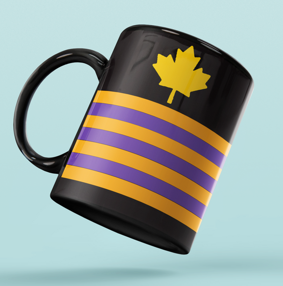 Rank Mug-Full Black-CE Maple Leaf