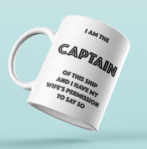 Designer Mug-I am the CAPTAIN