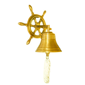 Nautical Bell-with wheel base-marine antique style collectable series