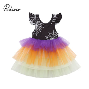 Spider Web Layers Tulle Tutu Dress