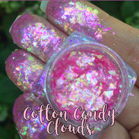 Cotton Candy Clouds ~ Multi Chrome Eyeshadow Flakes