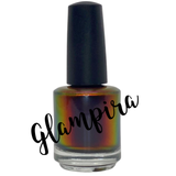 Glampira ~ Blackened Multi Chrome Nail Polish