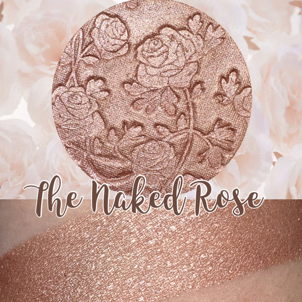 The Naked Rose Pressed Highlighter Bronzer Face & Eyeshadow Highlight Powder