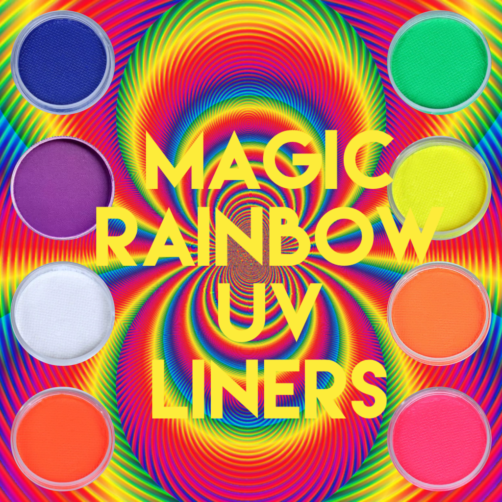 8pc Magic Rainbow UV Neon Liners