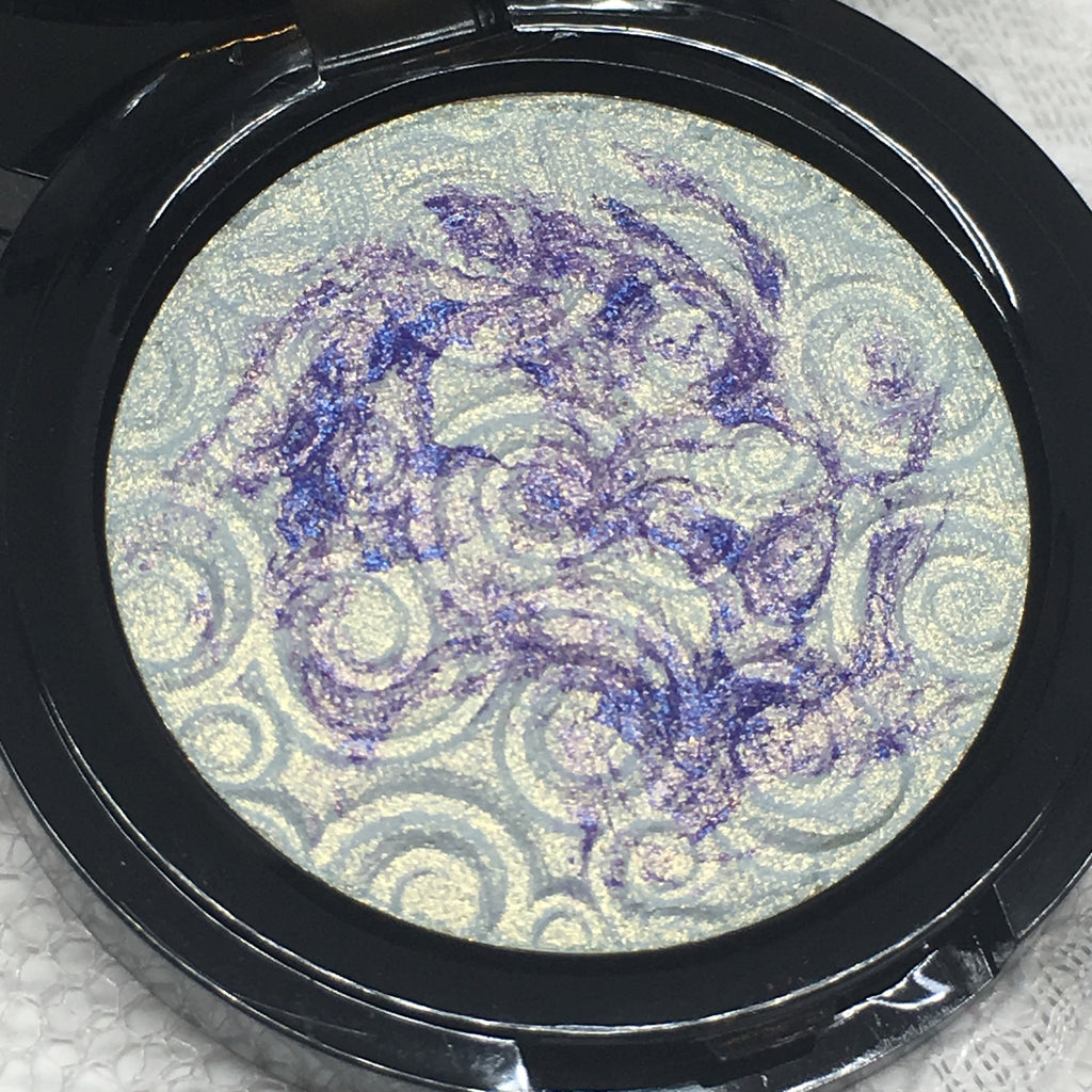 Mermaid Swirl Pressed Highlighter Blush Face & Eyeshadow Highlight