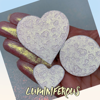 Luminiferous Duo Chrome Pressed Heart Highlighter Eyeshadow Topper