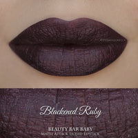 Blackened Ruby Matte Semi Metallic Liquid Lipstick