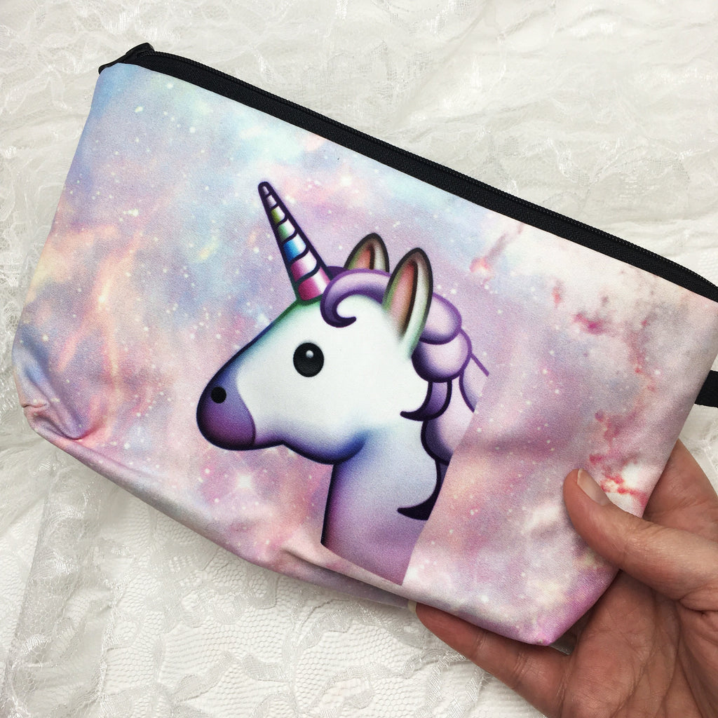 Unicorn Emoji Makeup Bag