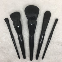 5pc Black Makeup Brush Set