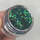 Tarragon Glitter Jelly Gel
