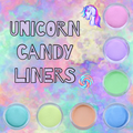 7pc Unicorn Candy Liners