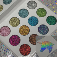 12pc Pressed Unicorn Glitter Palette