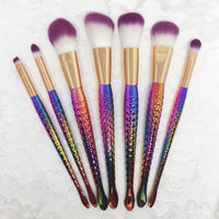 Mermaid Rainbow 7pc makeup Brush Set