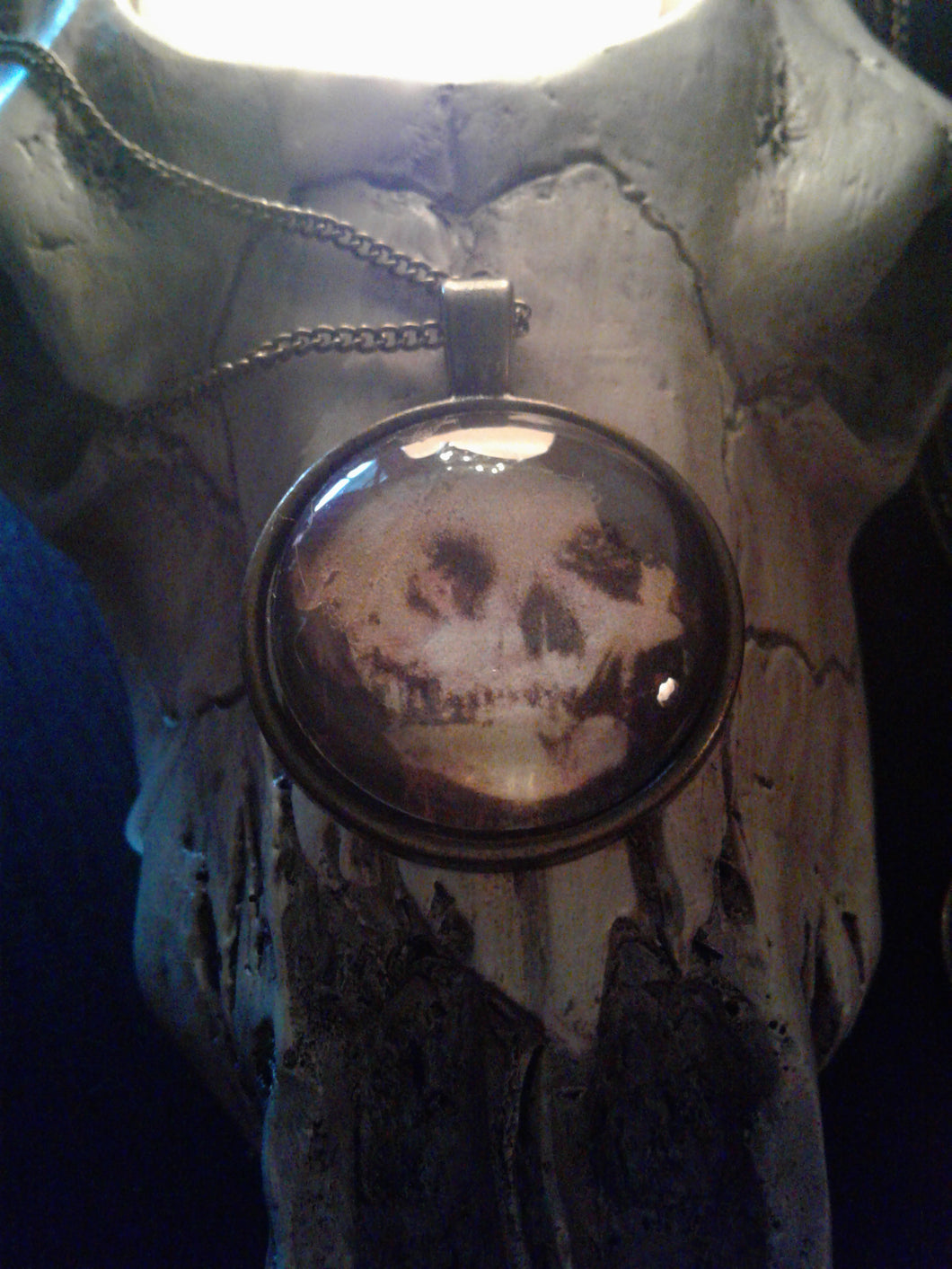 New! Skull Woman Face Vanity Necklace -by Haus of Witches