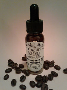 New! Witches Brew Coffee Infused Face Tightening Serum ☕