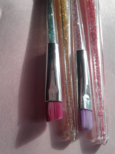 Witchy Wands -Makeup Brush 4 Set- Colored Crystals