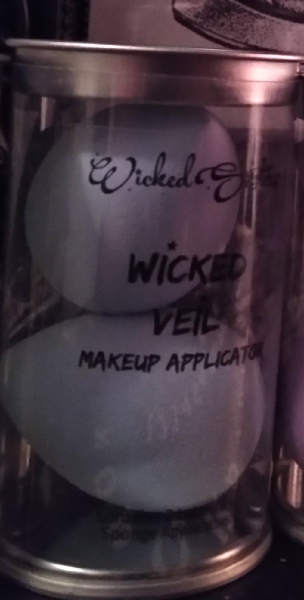 New! Wicked Veil Makeup Applicator -Set of 2 Color Crystal Ball-( Lt Blue)