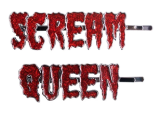 SCREAM QUEEN Glitter Hair Slides