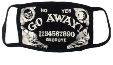Go Away Ouija Face Mask
