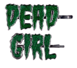 DEAD GIRL Glitter Hair Slides