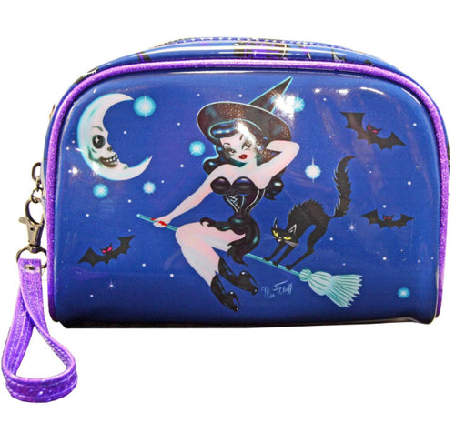 Witch Hex Kitten Makeup Bag Wristlet Purse