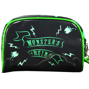 Monsters Ruin Bride Cosmetic Makeup Bag Wristlet Purse