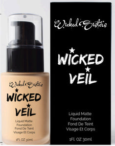 New! Wicked Veil Liquid Matte Foundation #4