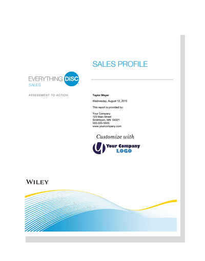 Everything DiSC Sales® Profile