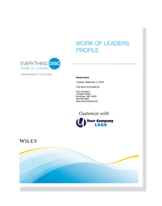 Everything DiSC Work of Leaders® Profile
