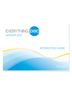 DiSC Assessment:  Everything DiSC Workplace® Interaction Guides