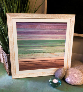 Framed Wood Art Horizon Print