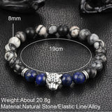 Buddha Leopard head Bracelet Lava Natural Stone Beaded Bracelets For Men Women