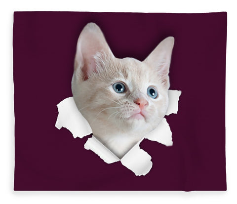 Beautiful Cat 3D Print Blanket