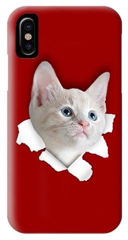Beautiful Cat 3D Print Phone Case for iPhone & Galaxy