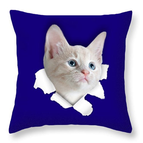 Beautiful Cat 3D Print Throw Pillow