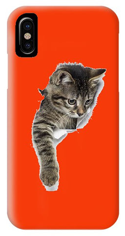 Naughty Cat Right Paw Sticking Out 3D Print Phone Case for iPhone & Galaxy